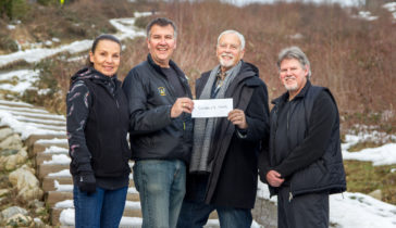 Crunch Challenge donates to the Coquitlam Foundation 'Diversity Fund'